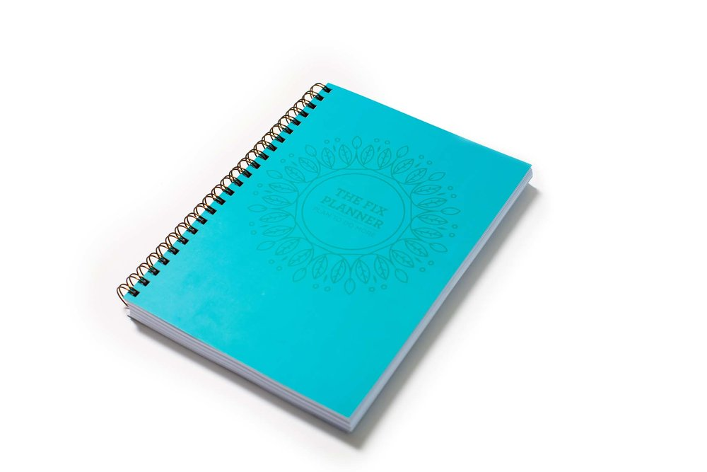 Solid blue spiral notepad