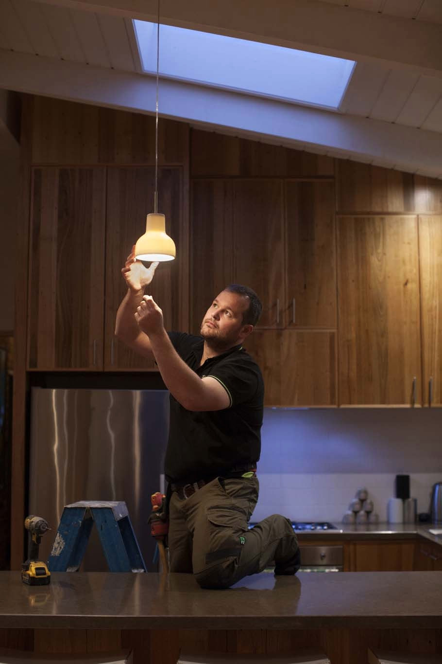 Man at work - electrician