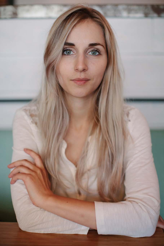Blonde woman's portrait