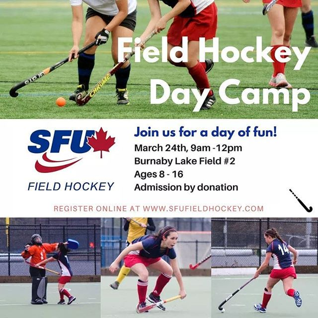 Hey, field hockey friends! 🏑 We're holding a day camp for players aged 8 to 16. Spots are limited! Register online today - link in bio ☝️