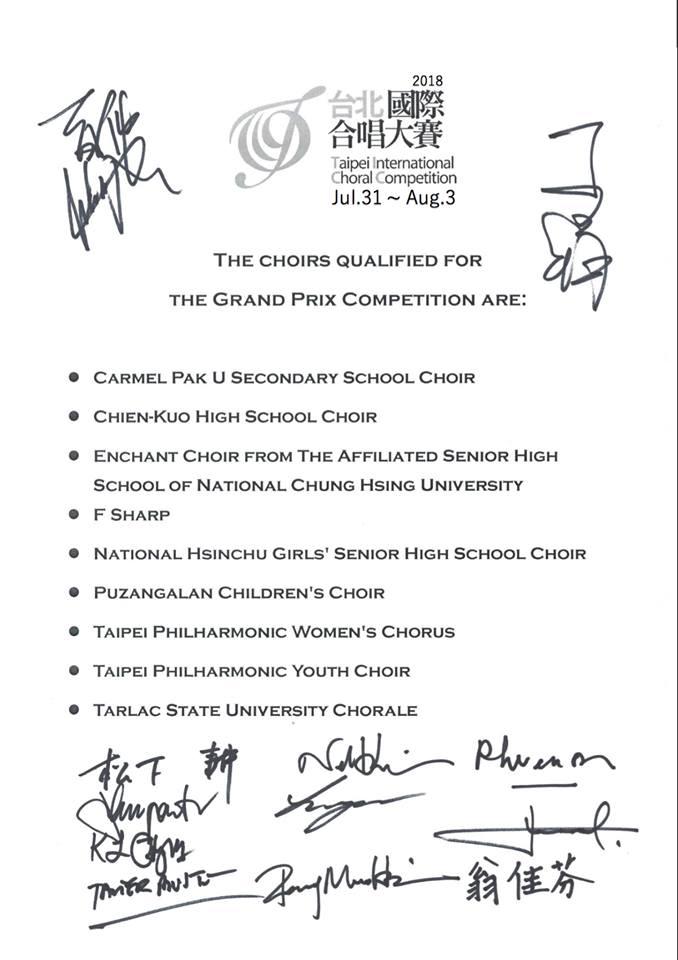 Qualified Choirs
