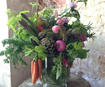 Bouquet et légumes Atelier Carmin