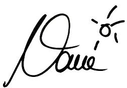"""Unterschrift Christiane """"NANE"""" Fehrle"""