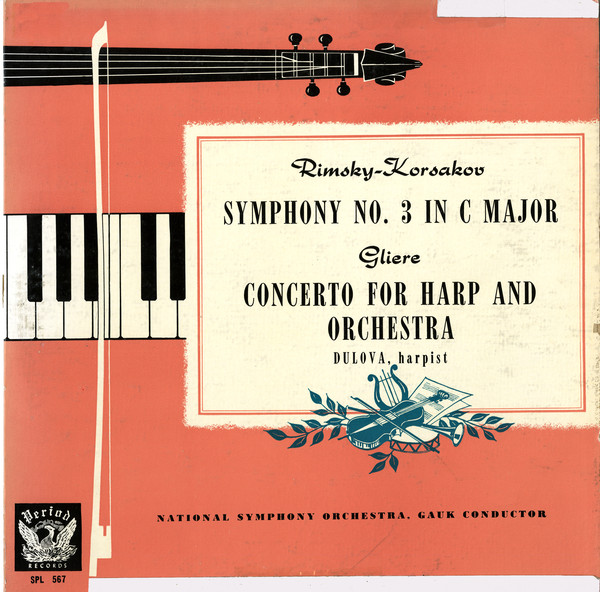 Gliere / Rimsky-Korsakov - National Symphony Orchestra, Gauk Symphony No. 3 In C Major / Concerto For Harp And Orchestra (Period Records)