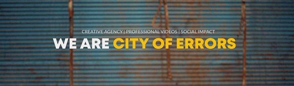 CITY of ERRORS   We are a small team that creates videos with the aim to promote a better, kinder, more sustainable and fairer world! We film all kinds of social, environmental and cultural stories with an original artistic perspective, carrying out projects around the world!