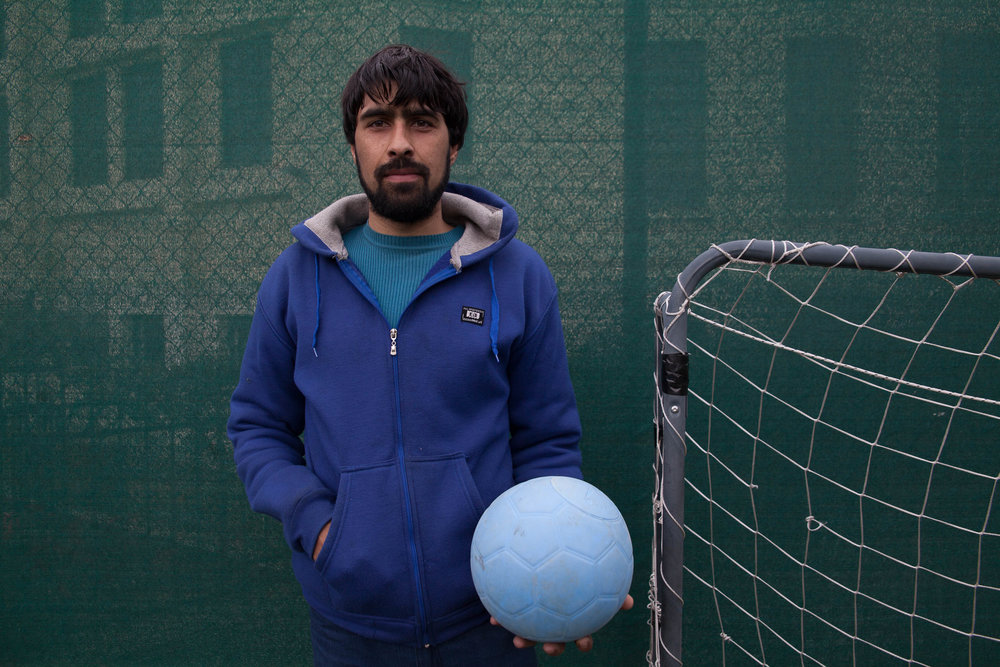 "Safiullah, 21, Pakistan   How has football helped you?   ""I am professional cricket player and I have to stay   in shape. Football really helps me keep my body strong."""