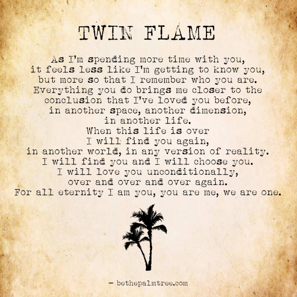 Twin Flames Be The Palm Tree