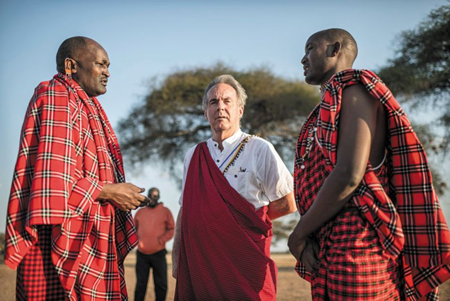 Ron Layton with Maasai elders  at  Workshop training in Simanjaro, Tanzania