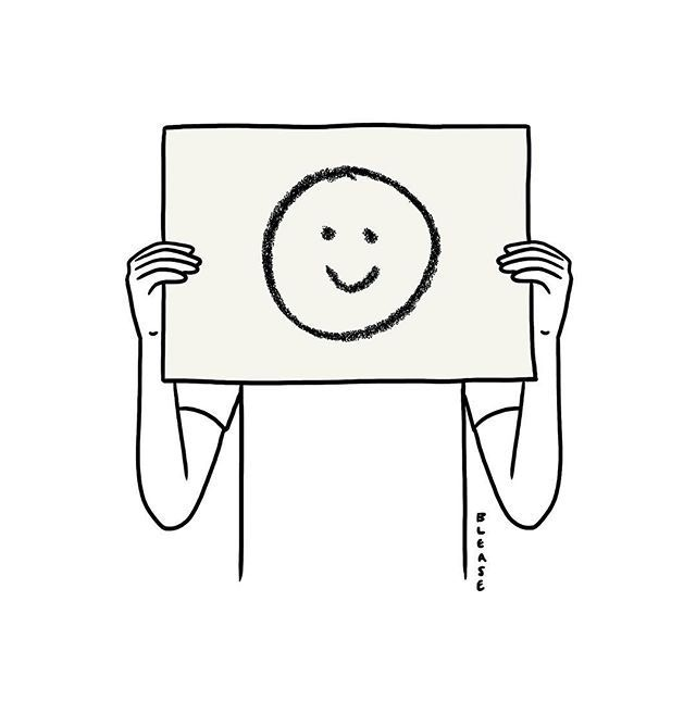 ☺︎ is always a choice.  Illustration by Matt Blease   #ununliving #ununshare #ununishappy #ununlove #ununblog