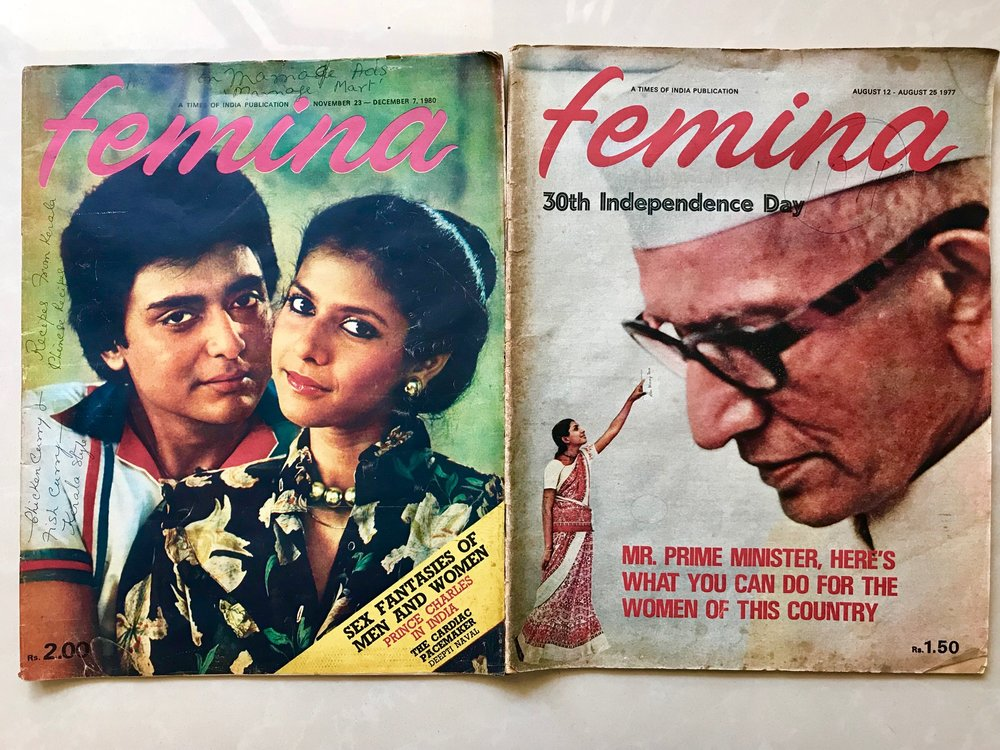 Femina covers from years ago.