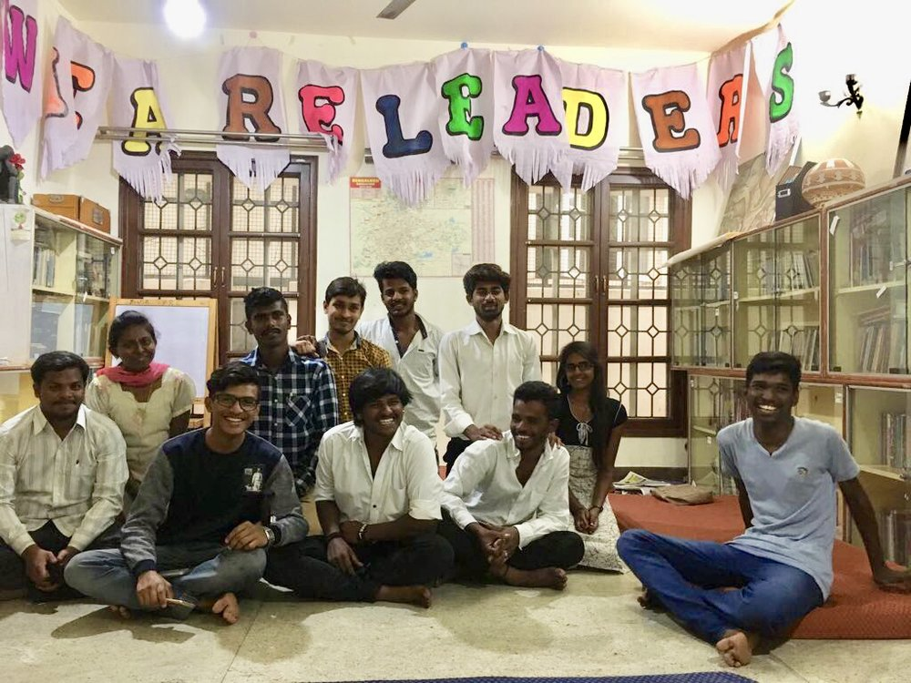 """We are leaders!"" - At the Youth Resource Centre in Bangalore."
