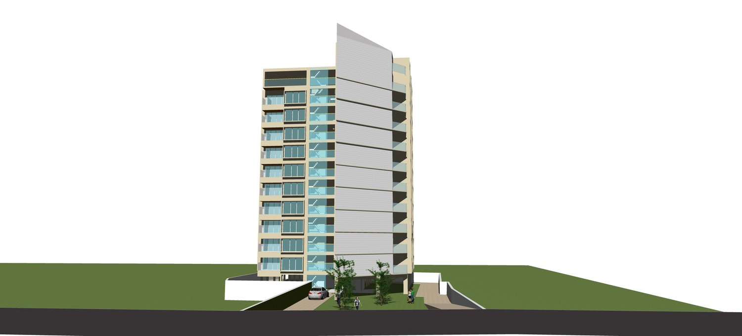 apartment building design. An Apartment Building Designed With 3 Levels Of Parking And A Total 34 Flats Distributed Design I