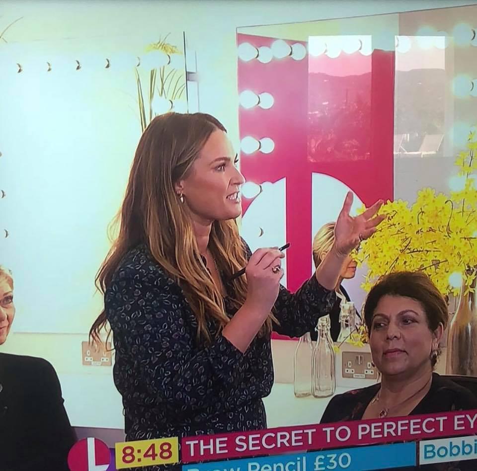 Cassie Lomas Makeup Academy Lorraine Show