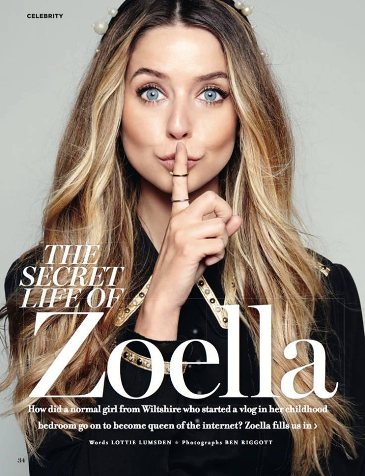 Cassie Lomas Makeup Zoella Cosmopolitan Magazine
