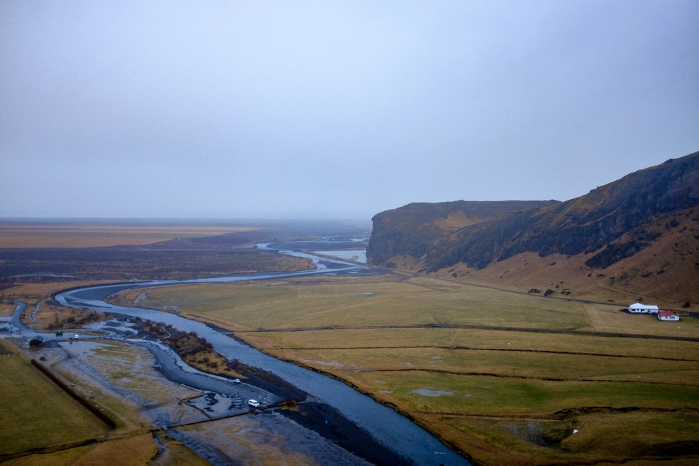 Skógafoss from above