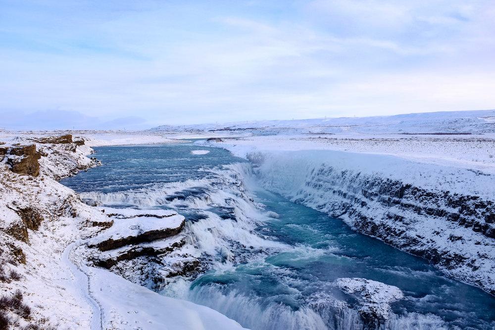magnificent Gullfoss waterfall