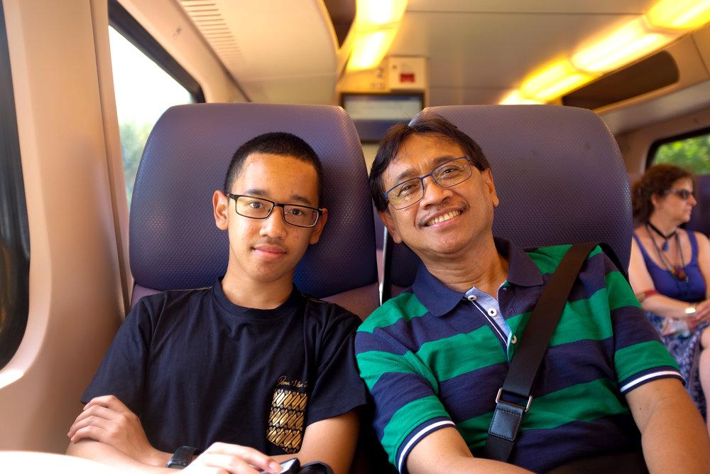 Di kereta perjalanan menuju Roermond