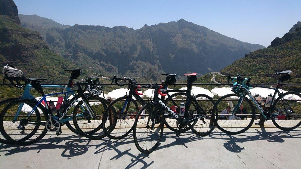 Bikes overlooking Masca