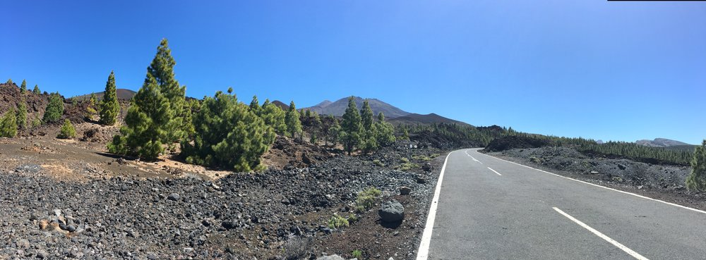 Road up to Mount Teide