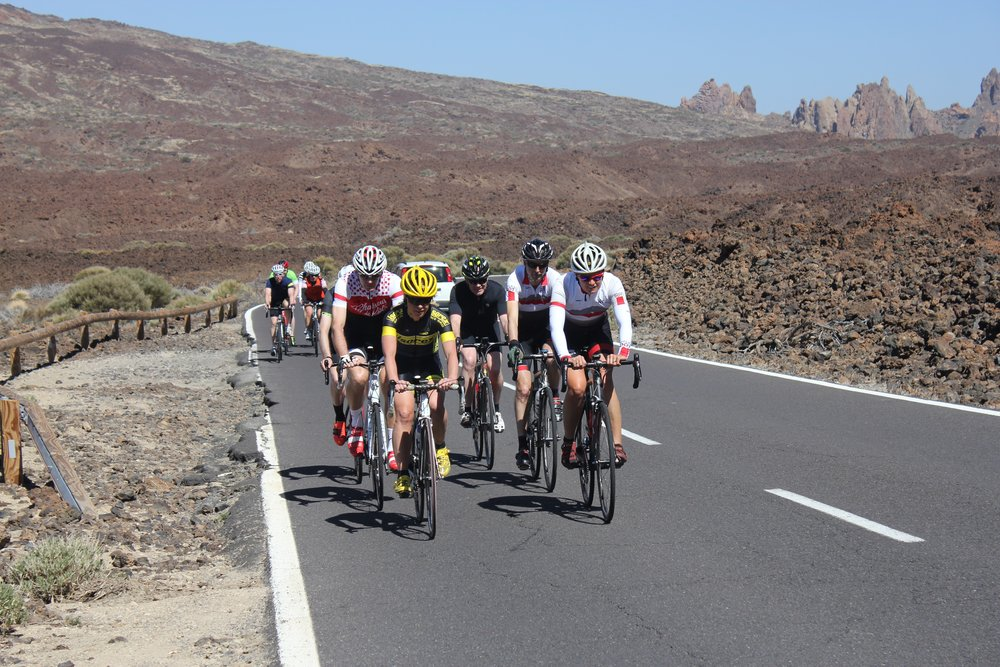 Cycling across Teide