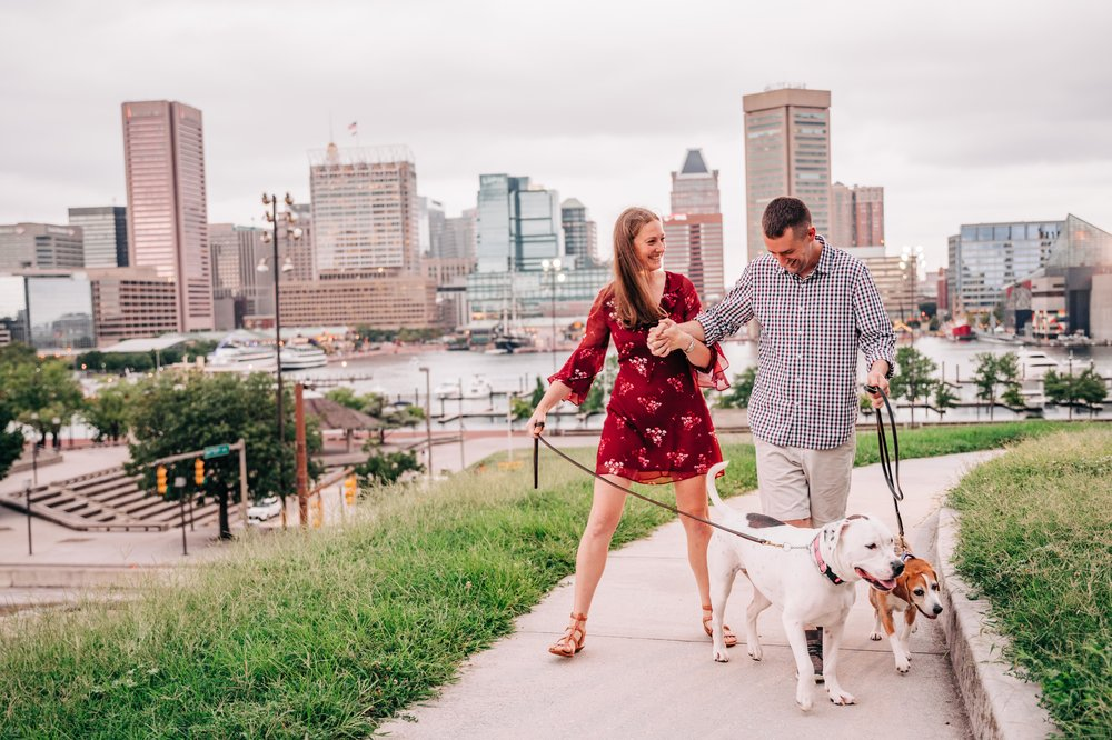 Federal Hill Park, Baltimore, Maryland Engagement Session | Baltimore Wedding Photographer
