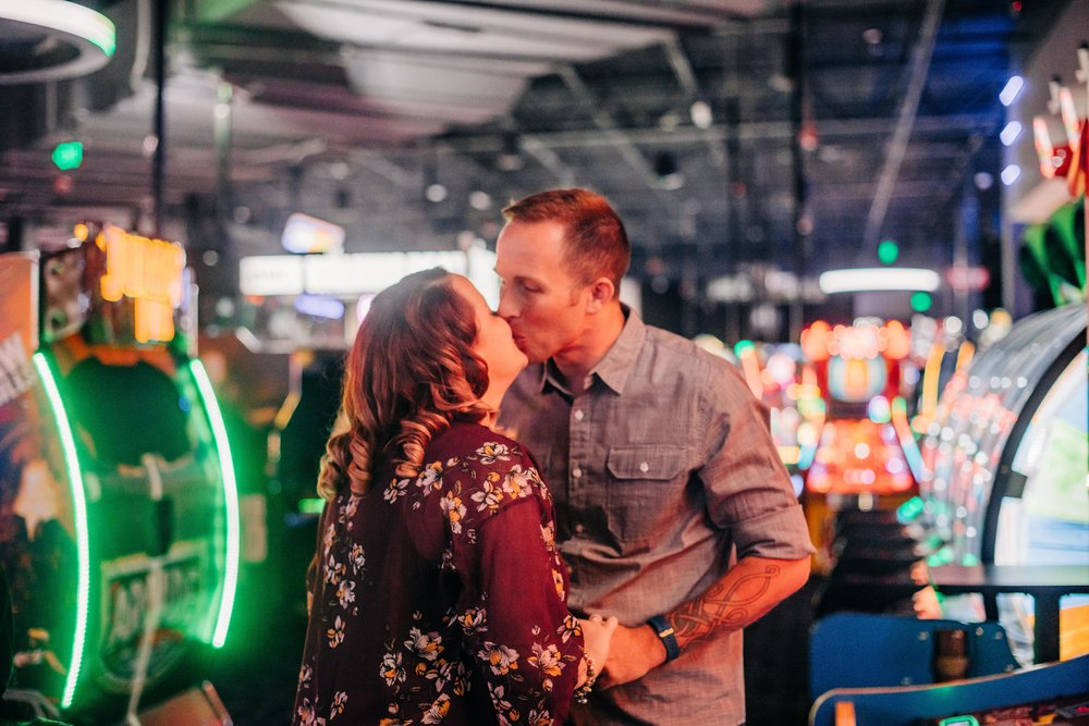 Dave and Busters, White Marsh, Maryland Engagement Session | Baltimore & Destination Wedding Photographer