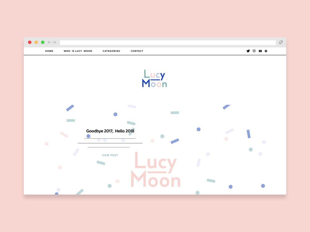 Han Valentine | Graphic Design | Lucy Moon | Branding | Identity | Typography | Logo | Website | Web design