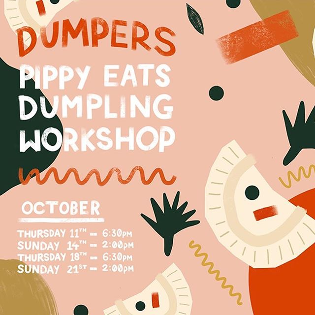 Another poster for @pippyeats for her dumpling making workshop at the lush @formlifestylestore next month 🥟 Tickets go on sale tonight, don't miss out :—) #posterdesign #layoutdesign #designdaily #vscodesign #illustrationdaily