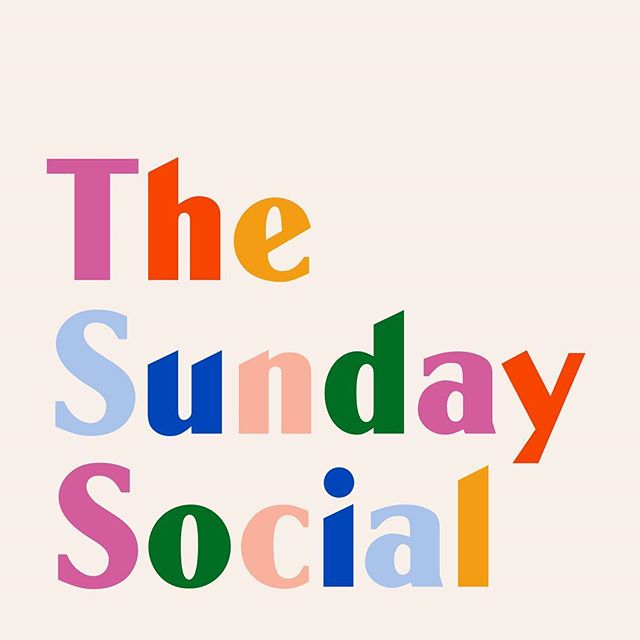 A super colourful cover for @iamlucymoon's new Sunday brunch pop culture podcast, @thesundaysocialpodcast 🌈