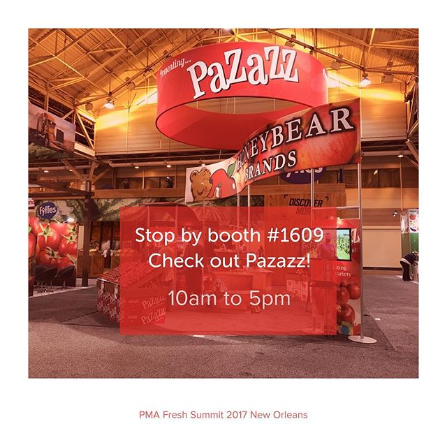 "Day 2 PMA Fresh Summit! Stop by booth #1609 and take a bite of #Pazazz for a serious ""Wow Right Now"" experience! #PMA #freshsummit  #apples #NewOrleans"