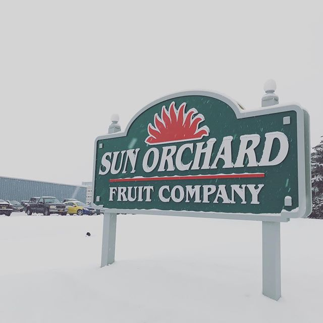 Welcome winter! It's a beautifully stormy day here but the ain't sNOw stopping us we are still packing up those beautiful and delicious apples for you! #winter #apples