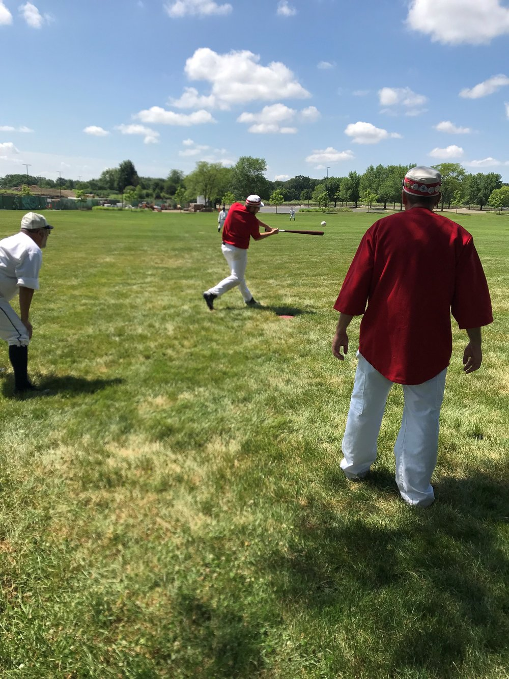 The DuPage Plowboys played The Aurora Town Team in Game 1 of the 5th annual Red Oak Vintage Baseball Festival at Cantigny