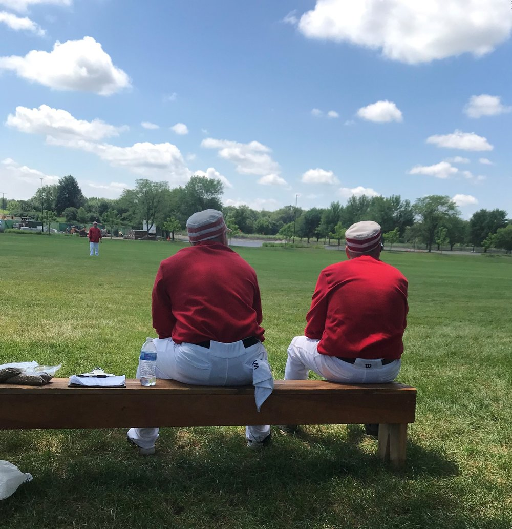 The DuPage Plowboys extras watch their teammates in the field