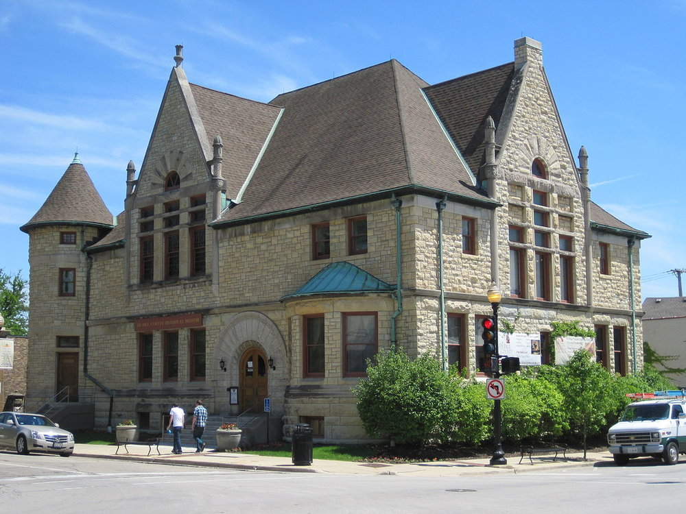 DuPage Historical Museum, the building was originally Wheation's first public library