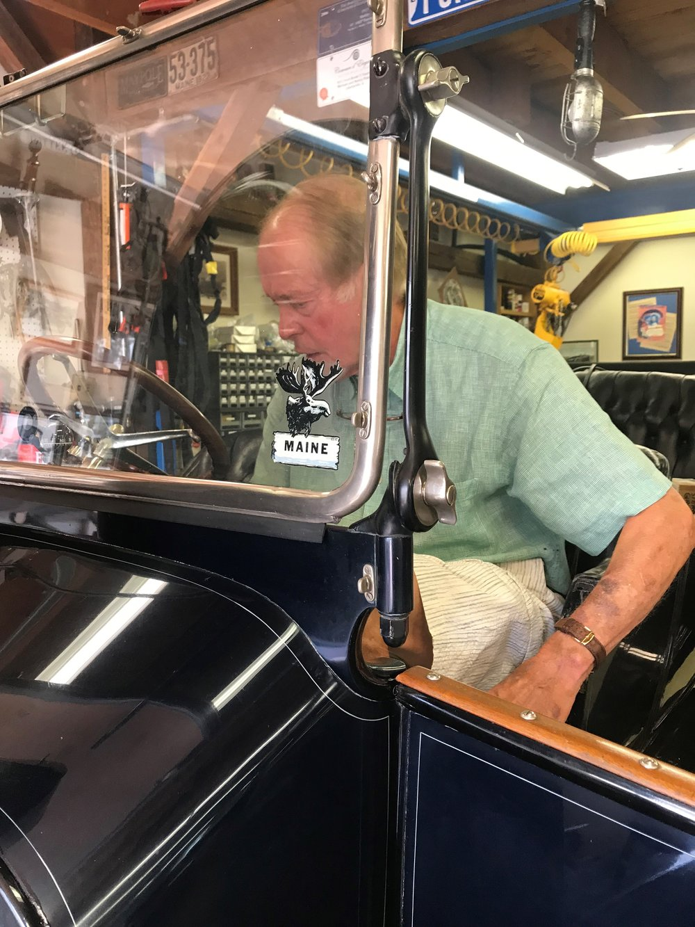 Libertville's Mike Roach goes through the process to fire up the boiler and build up enough pressure needed to start his Stanley Steamer
