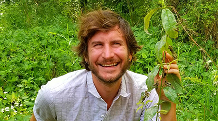 Participatory Ecologist Michael Swierz encourages people to connect with nature in a variety of ways including by foraging for food
