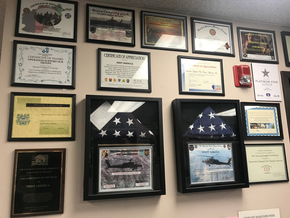 Just a sample of the thank you messages Operation Support Our Troops has received over the past 15 years.