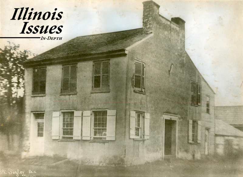 The First Illinois State Capital was in Kaskaskia (photo courtesy of the Abraham Lincoln Presidential Library and Museum)
