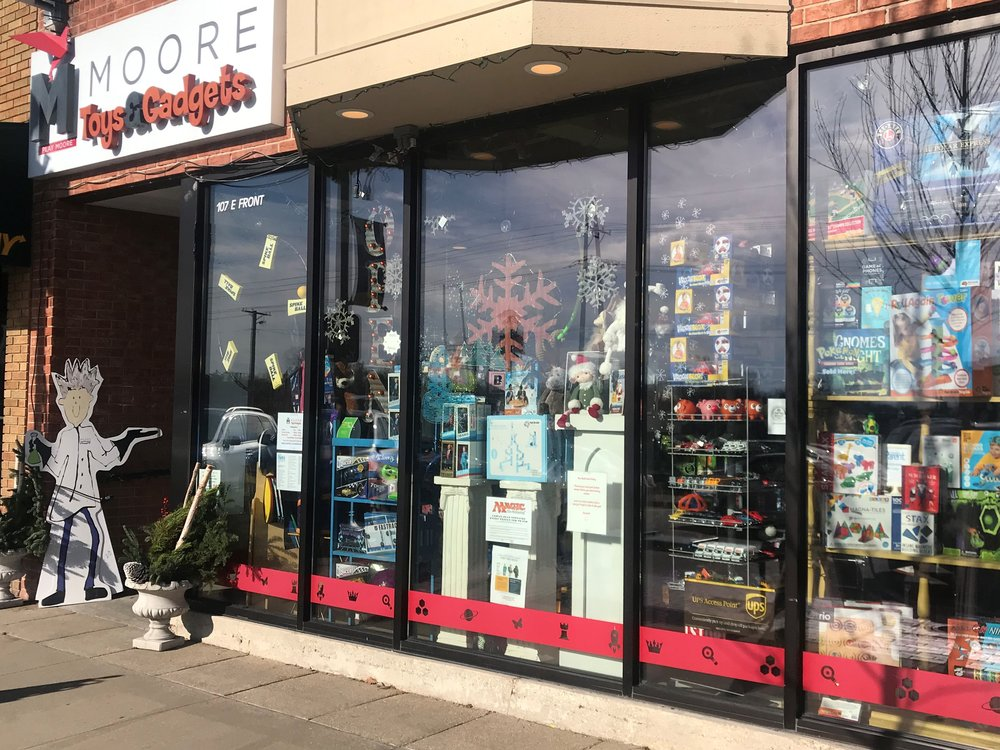 For more than four years Moore's Toys & Gadgets has brought fun and games to downtown Wheaton