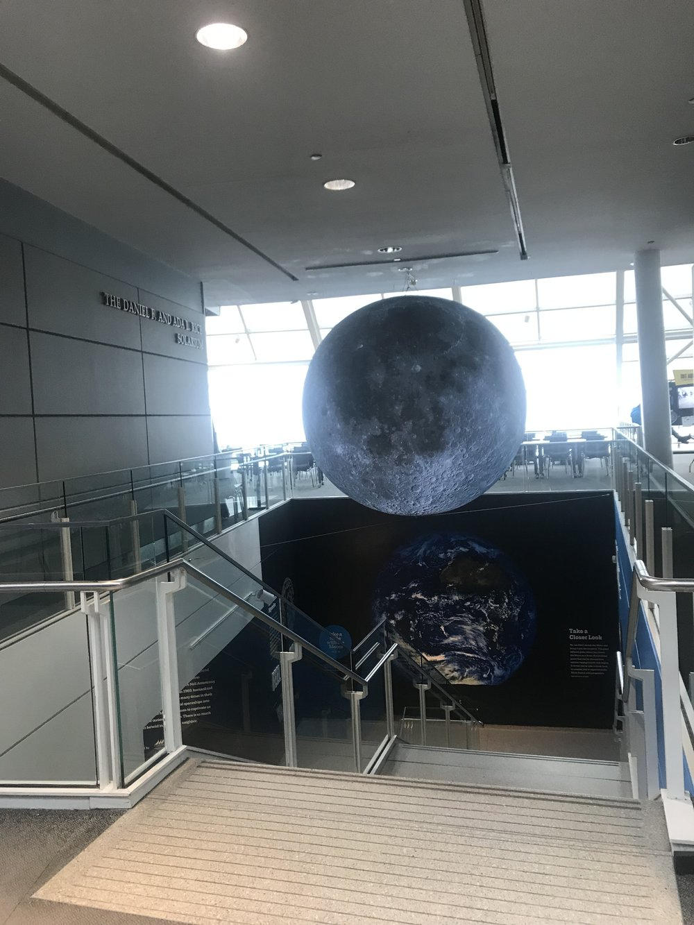 A detailed look of the moon, as we see it from Earth on Adler Planetarium's new moon globe