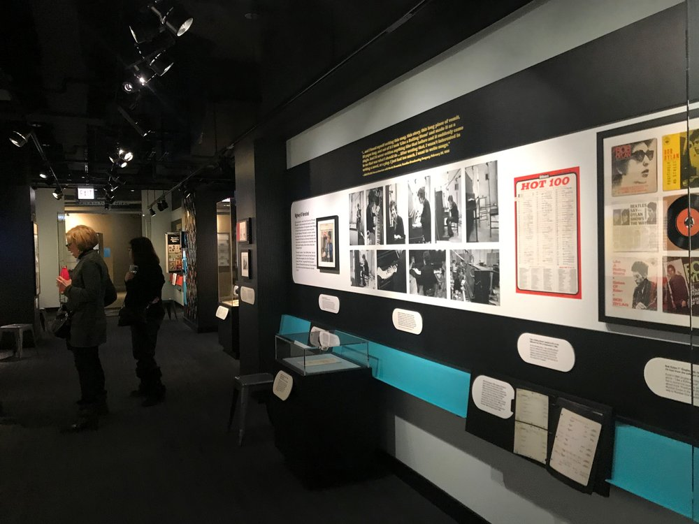 The American Writers Museum celebrates Nobel Laureate Bob Dylan with a temporary exhibit at its Michigan Avenue location. The exhibit is on display through April 30th.