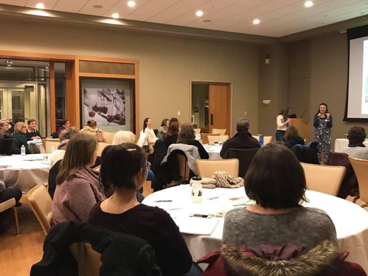 Enthusiastic gardeners braved the snow and cold to hear one time Warrenville resident Shawna Coronado talk about her new book The Wellness Garden