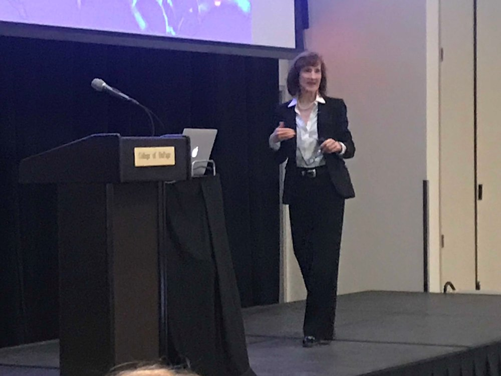 Entrepreneur and small business consultant Laurel Delaney spoke at College of DuPage as part of the month long Humanities Festival