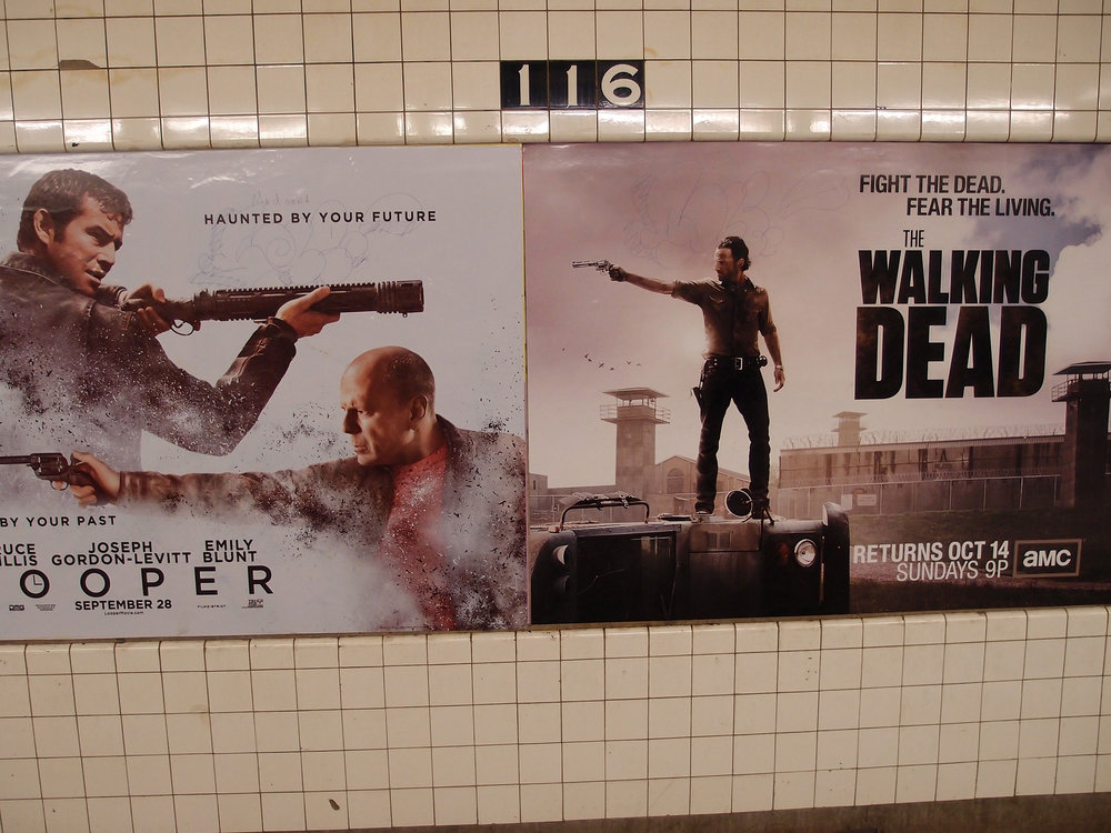 Weapons in the subway, NYC