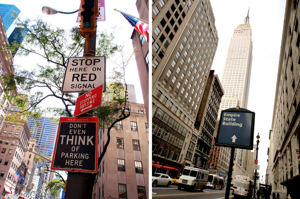 Don't even think of parking here, Fifth Avenue, NYC    Pleonasm, 34th Street, NYC