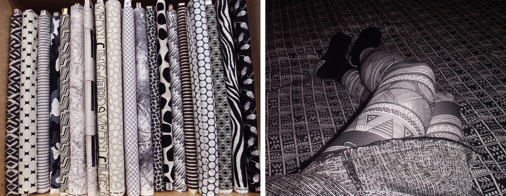 Textile, Black and white, NYC