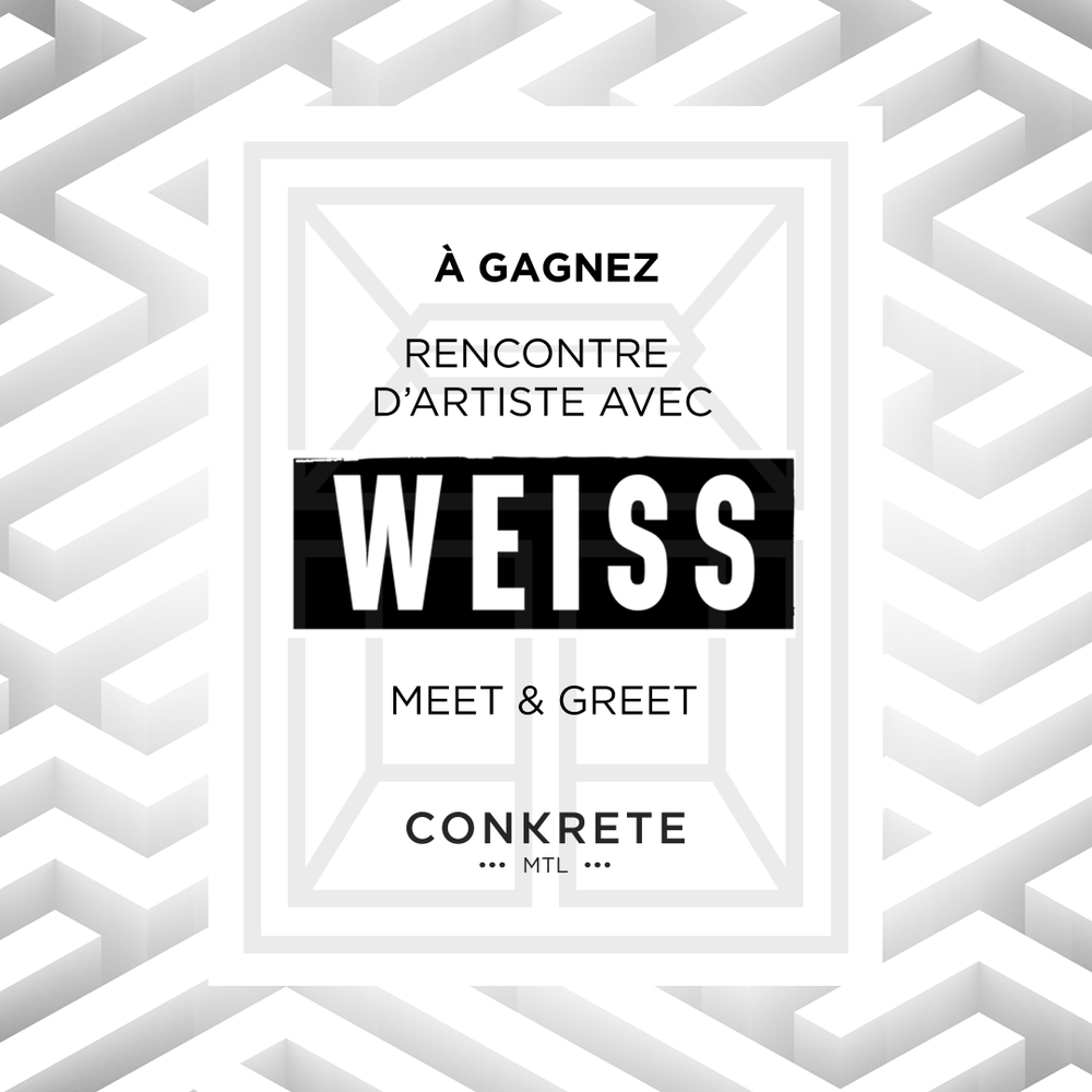 Win a meet and greet with Weiss!! - Click below for more info