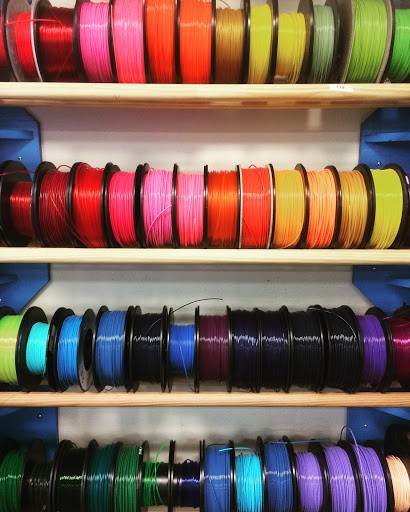 Just a few of the filament colours available. Image from  Matterhackers .