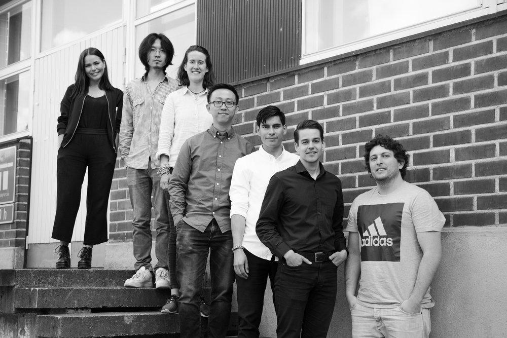We are Platonics! From left to right: Sara, Huiyang,Sophia, Cheng, Jonas, Julio and Martin.