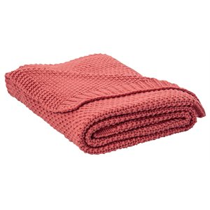 Coral marshmallow throw available too.